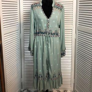 Soft Surroundings Sage Green Boho Dress